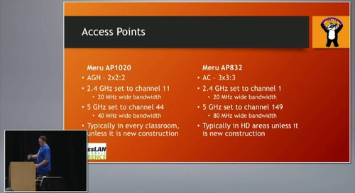 Loudoun County Public Schools Wireless Network – Fortinet (Meru) Access Points Layout and Tuning