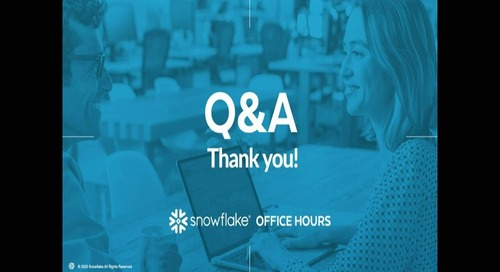 Snowflake Office Hours - BioUrja