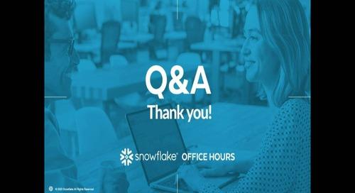 Snowflake Office Hours - BioUrja