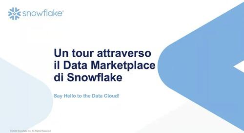 Webinar - Un Tour Attraverso il Data Marketplace di Snowflake