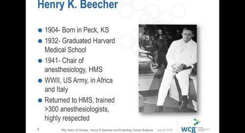 Fifty Years of Change: Henry K. Beecher and Protecting Human Subjects