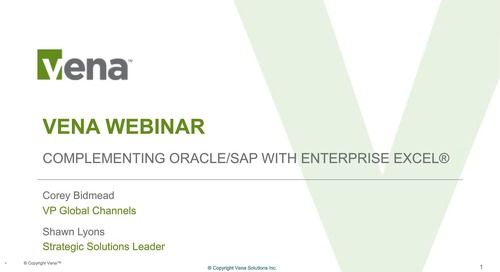 Complementing Oracle/SAP with Enterprise Excel