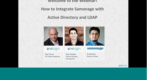 Integrate AD / LDAP to Samanage, Sync Users in Real-Time, and SSO