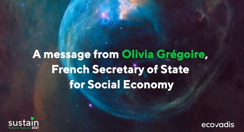 A message from Olivia Grégoire, French Secretary of State for Social, Solidarity and Responsible Economy