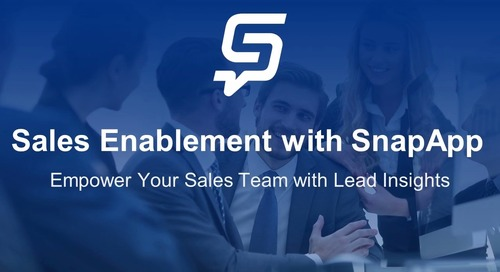 Sales Enablement with SnapApp