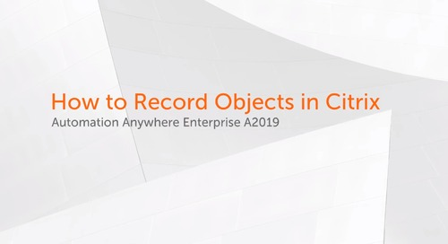 How to Record Objects in Citrix