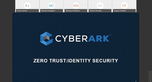 Zero Trust: Identity Security