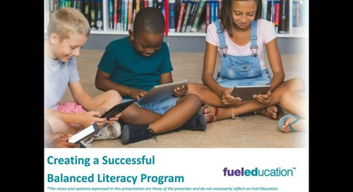 Webinar: Creating a Successful Balanced Literacy Program
