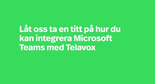 Telavox integration med Microsoft Teams