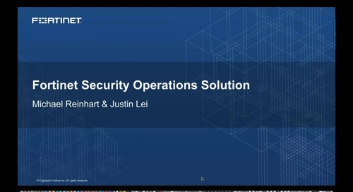 Weekly Demo Series & Solution Overview - Security Operations