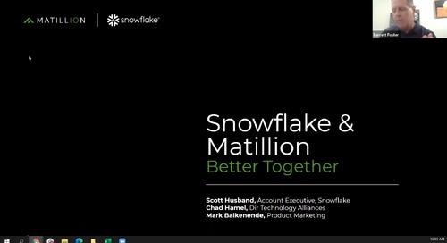 Webinar - Snowflake & Matillion - Better Together