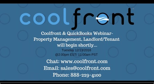 Coolfront QuickBooks Webinar-Property Management Webinar