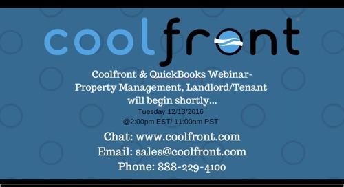 Coolfront QuickBooks Webinar-Property Management Webinar
