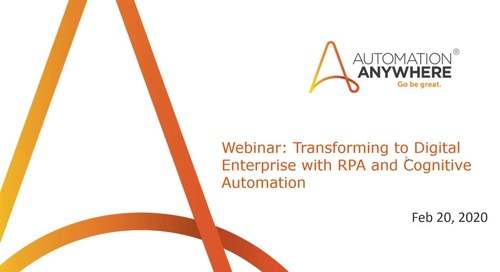 Transforming Finance Function with Intelligent Robotic Process Automation (RPA)