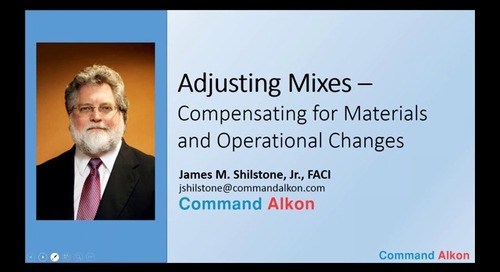 #8 - Adjusting Mixes: Compensating for Materials and Operational Changes