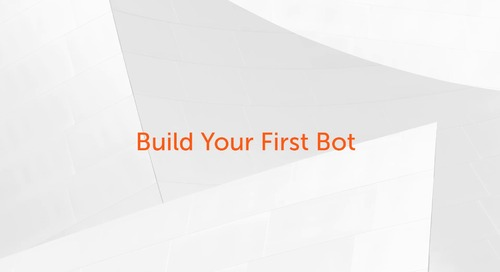 Enterprise A2019 - How to build your first bot