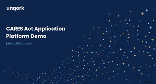 Demo: CARES Act Application Platform