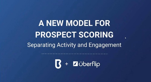 A New Model for Prospect Scoring: Separating Activity and Engagement