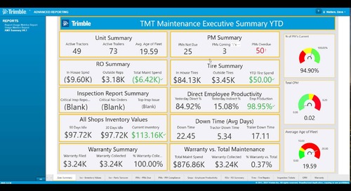 Trimble TMT: Advanced Reporting [Video]