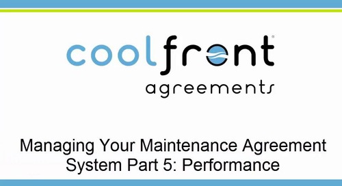 Managing Your Maintenance Agreement System Part 5 Performance