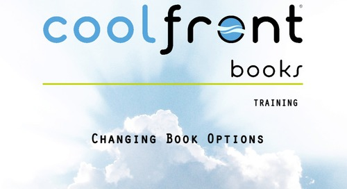 Coolfront Books - Changing Book Options