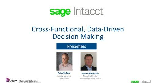 Cross-Functional, Data-Driven Decision Making for Service Companies