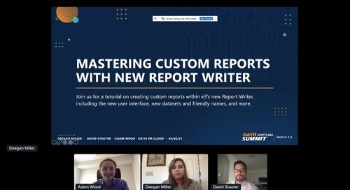 Mastering Custom Reports with New Report Writer