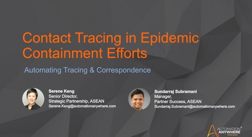 Intelligent Automation in Epidemic Containment Efforts