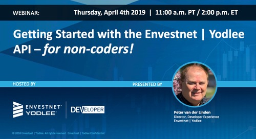 On-Demand Webinar: Getting Started with the Envestnet | Yodlee API- for non-coders!
