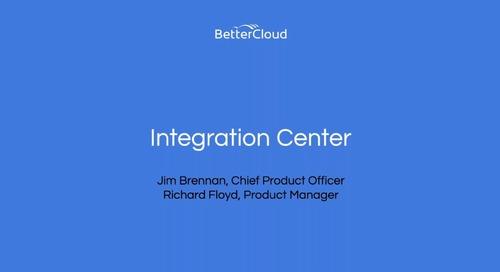 Integration Center Webinar