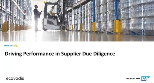 Partner Webinar with SAP Ariba - Driving Performance in Supplier Due Diligence