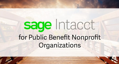 Sage Intacct for Public Benefit Nonprofits