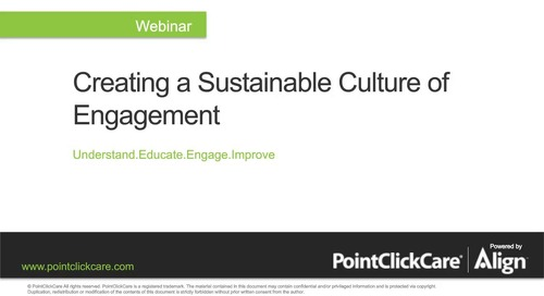 Creating a Sustainable Culture of Engagement