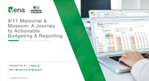 2018-02-27 - 911 Memorial & Museum - A Journey to Actionable Budgeting & Reporting