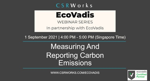 [CSRWorks] Measuring and Reporting Carbon Emissions