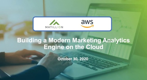 IDG Webinar-Building a Modern Marketing Analytics Engine on the Cloud