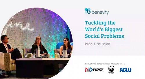 Panel - Tackling the World's Biggest Social Problems-