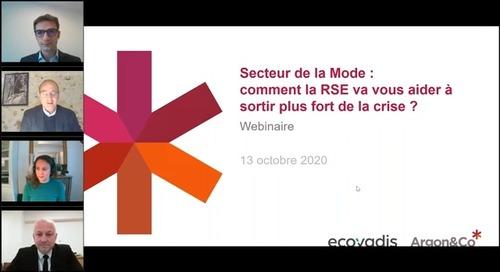 Secteur de la Mode: comment la RSE va-t-elle vous aider à sortir plus fort de la crise