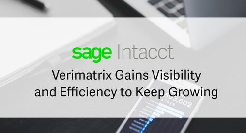 Verimatrix Gains Visibility and Efficiency to Keep Growing with Sage Intacct