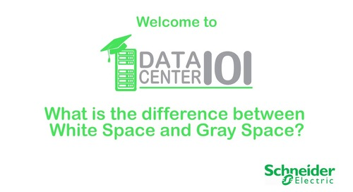 Data Center 101: What is the difference between white space and gray space?