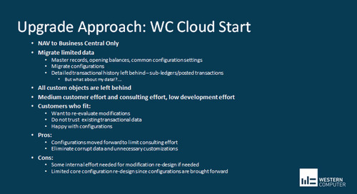 Cloud Upgrade Strategies to D365 Business Central Part 1 - Building Your Plan