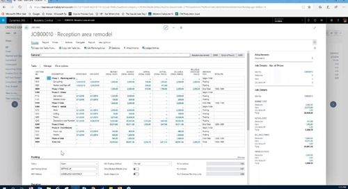 Dynamics 365 Business Central for Project-Based Companies