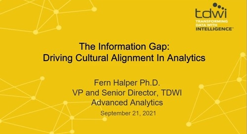 TDWI Webinar - The Information Gap Driving Cultural Alignment in Analytics