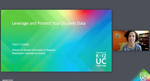 Leverage and Protect Your Student Data