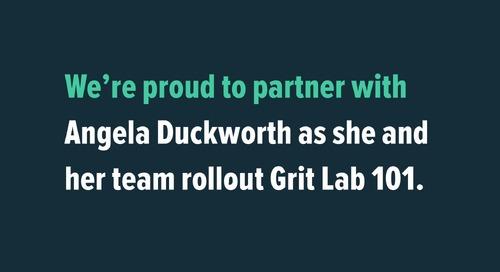 Angela Duckworth and Grit Lab 101