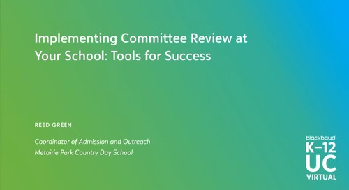 Implementing Online Committee Review at Your School