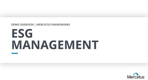 ESG Management | Overview Demo