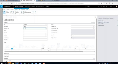 How to Configure and Use Service Management with D365 Business Central
