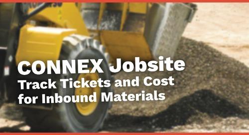 CONNEX Jobsite | TicketPro for Inbound Materials