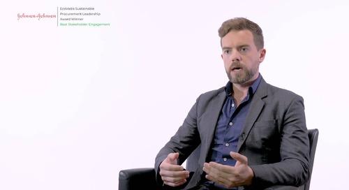 Johnson & Johnson spricht über sein nachhaltiges Beschaffungsprogramm